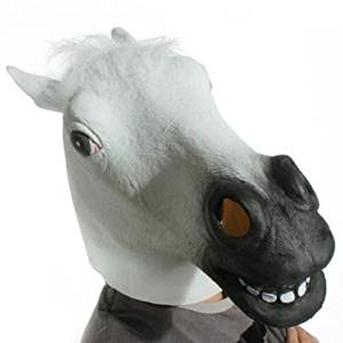 Horror Scary White Horse Head Mask for Halloween Cosplay Costume Party by Laylala® (Image #1)