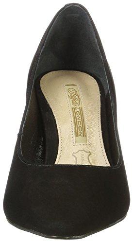 Para 16 Negro Buffalo Tacón 01 London Zapatos De Nobuck 7446 Mujer Zs black ff8vRt
