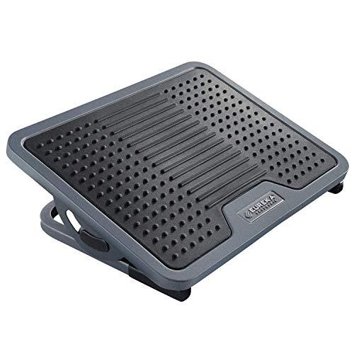Foot Mat Warmer (Eureka Ergonomic Tilt Adjustable Footrest with Massage Surface Under Desk, Black & Gray)