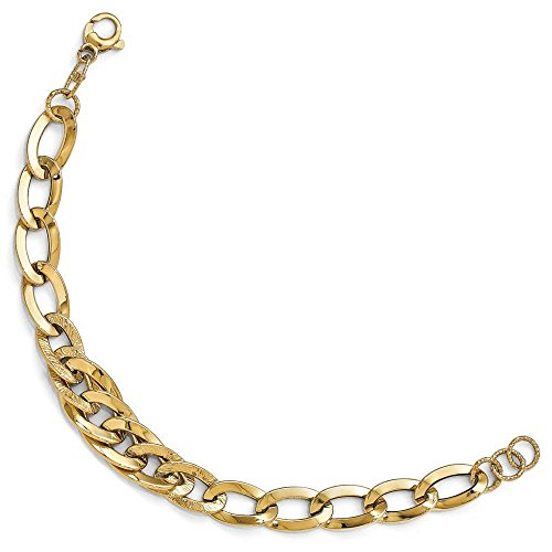 "Poli et texturé Fancy 14 carats-Bracelet-JewelryWeb 8 """