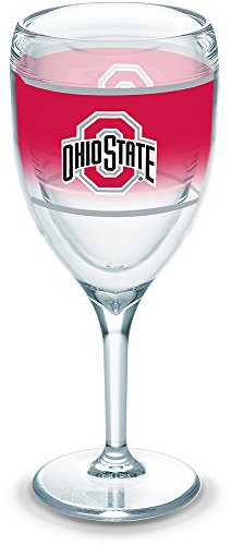 Tervis 1292227 Ohio State Buckeyes Original Tumbler with Wrap, 9oz Wine Glass, - Buckeyes Wine