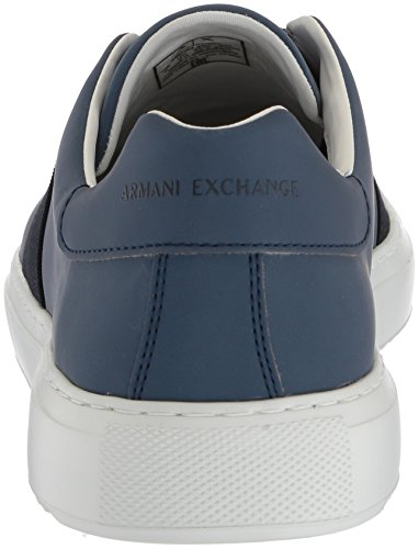 Men Navy No X Sneaker Exchange Armani Laces Low Cut A 413 6BHqSOnq