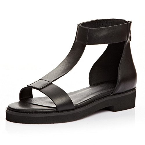 allhqfashion-womens-open-round-toe-cow-leather-low-heels-sandals-with-t-strap-and-chunky-heels-black