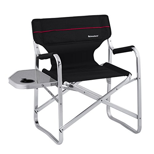22' Chair (OnwaySports Aluminum Frame Director Chair with Side Table Lightweight Foldable Portable for Camping in Black)