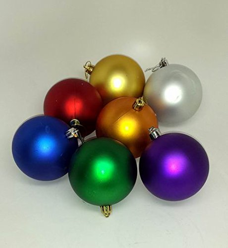 Lot of 120 Pieces -Bulk Shatter-Proof Christmas Ornaments - Minor Blemishes -
