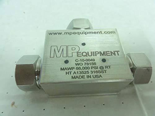 HP MP Equipment C-10-0049 Water Jet Tee 66,000 PSI 3//8