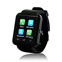 Yuntab Bluetooth Smart Jogging Watch U8, Sport Watch for Smart Phones iPhone Android Samsung HTC Sony, Black