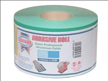 Faithfull AR540G Aluminium Oxide Paper Roll 115mm x 5m 40g - Green FAIAR540G