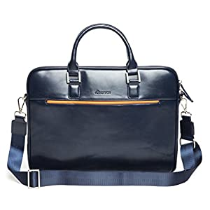 "Laptop Bag Briefcase Business Shoulder-Messenger - 13.3 Inch Slim Case, Travel for up 13"" Computer - Notebook/ MacBook Air - Pro / iPad Pro 12.9/ Dell xps 13/ Tablet For Men by SettonBrothers - Blue"