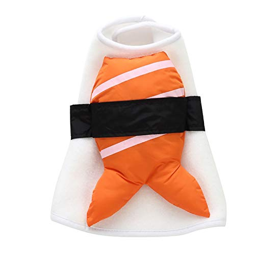 Wonader Norbi Pet Apparel Halloween Pet Costume Party Japanese Sushi Set Dog Cosplay Costume with Hat for Dog Cat(I -