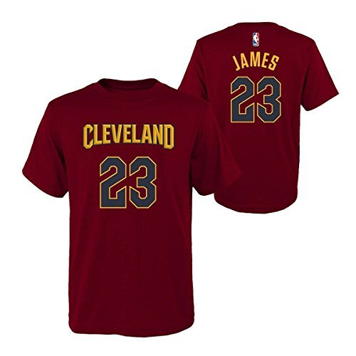 299f3525e48 Outerstuff Lebron James Cleveland Cavaliers Youth Maroon Name and Number  Player T-shirt Medium 10-12