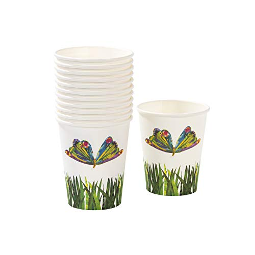 Talking Tables The Very Hungry Caterpillar Kids Birthday Disposable Cup (12 Pack), 4, Green