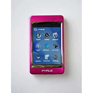 Pyrus Electronics 4gb Mp3 / mp4 / mp5 Player with 2.8 Inch Touch Screen and All Stainless Steel Casing