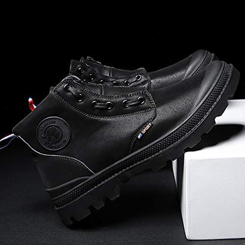 Aire Impermeables Ocio Para Zapatillas Black Negros Zapatos Moda Invierno Otoño Ronda High Libre Botas Trabajo top Hombre Ligeras Al De Martin xqAwZSwYRz