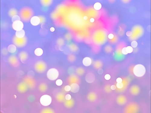 Blur Pastel Abstract Photo Background Colorful Defocused Circular Bokeh Light Violet Purple Photography Studio Backdrop 10×8 ft