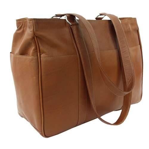 Piel Leather Medium Shopping Bag, Saddle, One Size ()