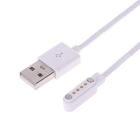 FlYHIGH Cargador KW88 KW18 GT88 G3 Smartwatch USB 4 Pin Cables de Carga magnéticos