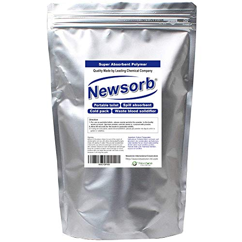 Newstone 1kg (2.2 Lbs) Sodium Polyacrylate - Superabsorbent Diaper Polymer Made in Japan (2.2 lbs (1kilogram)) (Sodium Polyacrylate Powder)