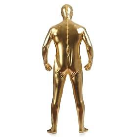 - 41H3vHhI34L - Men's Shiny Metallic Zentai Full Body Suit