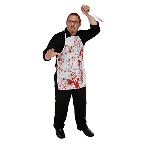Blood Spatter Novelty Halloween Butcher Horror Apron -
