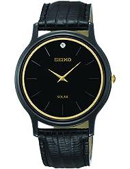 Seiko Mens SUP875 Analog Display Japanese Quartz Black Watch