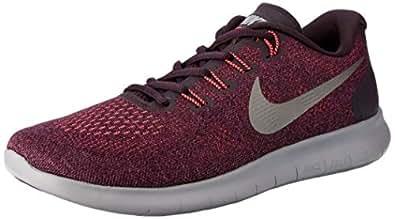 Nike Women's Free RN 2017 Road Running Shoes, Bordeaux/Metallic Pewter-Port Wine-Solar Red, 7 US (38 EU)