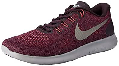 Nike Women's Free RN 2017 Road Running Shoes, Bordeaux/Metallic Pewter-Port Wine-Solar Red, 9.5 US (41 EU)