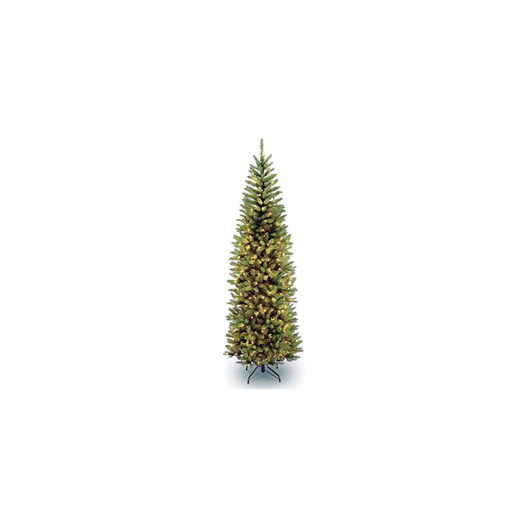 National-Tree-Company-4-12-Kingswood-Fir-Hinged-Pencil-Tree-with-150-Clear-Lights