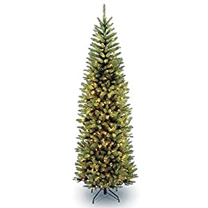National Tree Company 4 1/2' Kingswood Fir Hinged Pencil Tree with 150 Clear Lights 15