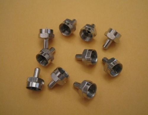 ANiceS 10 QTY Pack F-type 75 Ohm Terminator Coax Coaxial Cable Adapters Connectors Cap - F-type Terminator
