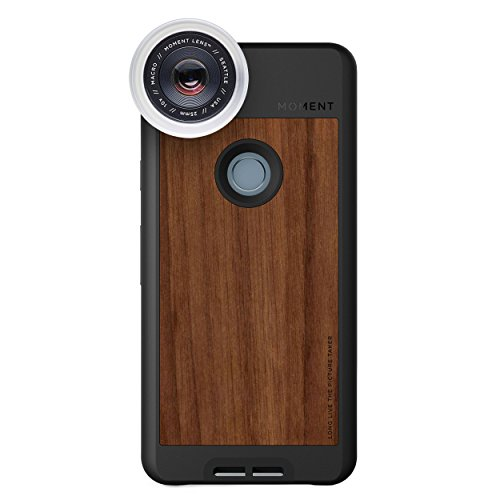 Pixel 2 Case with Macro Lens Kit || Moment Walnut Wood Photo Case plus Macro Lens || Best google macro attachment lens with thin protective case. by Moment