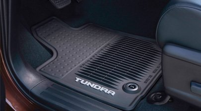 Genuine Toyota All Weather Floor Mats for the 2014 Toyota Tundra Regular Cab-New, OEM by