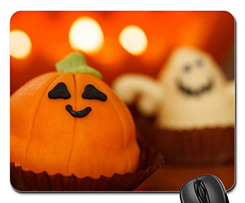 Mouse Pads - Sweet Food Halloween Dessert Holiday Orange Treat -
