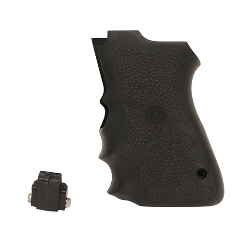 Hogue 69000 Rubber Grip for S&W, Compact 9mm Double Stack Mag ()