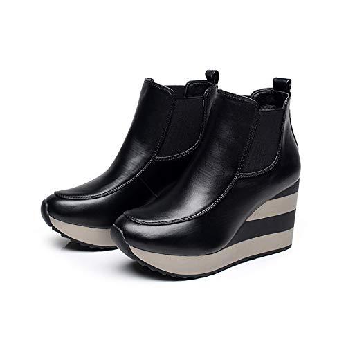 Lianaic Tacchi alti I Tacchi Alti Aiutano Le Scarpe da Donna con Tacco Alto Elasticizzato Nero 38
