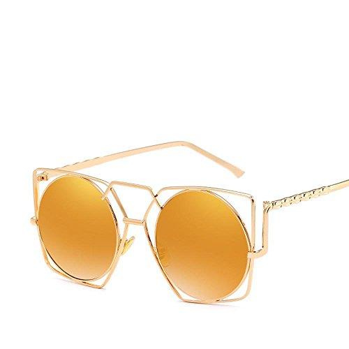 Aoligei Soleil creux métal irrégulière marée style hommes et femmes de la même personnalité style lunettes de soleil multilatéral lunettes S E