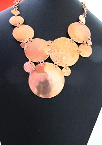 Solid Copper Bib Necklace