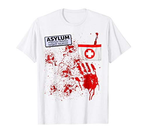 Halloween Asylum Bloody Nurse Uniform T