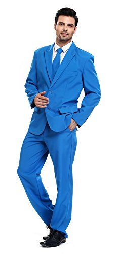 U LOOK UGLY TODAY Men's Party Suit Blue Solid Color Bachelor Party - Colors Ugly