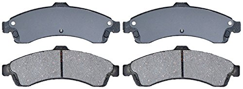 ACDelco 14D882CH Advantage Ceramic Front Disc Brake Pad Set with Hardware ()