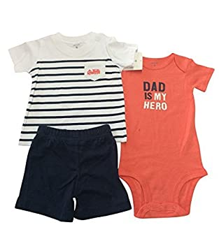 Baby Clothes 3 Piece Set Baby Boy Girls Clothes Nautical Stripe T