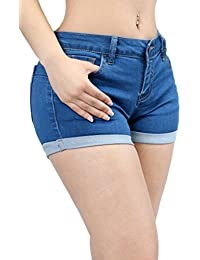 Women Fashion Butt Lifting Push Up Stretch Short Pants with Pockets Collection