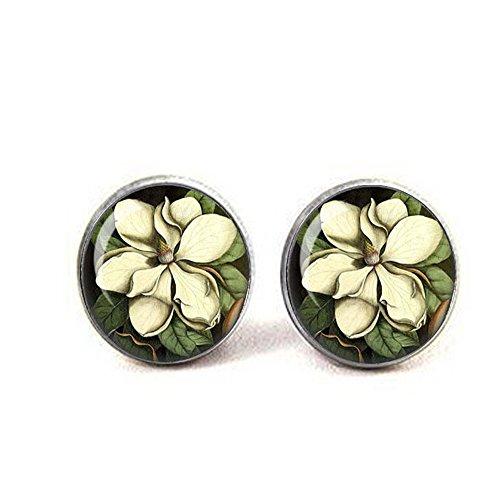 Magnolia Jewelry - Botanical Earrings - Mark Catesby ca 1740 - Botanical Jewelry - Botany - Flower Jewelry - North America Flora (Botanicals Magnolia)