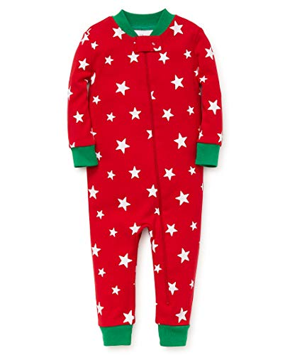 Little Me Kid's Holiday Cotton Pajamas, Sleepwear, red print, 18 Months (Me Little Pajamas Cotton)