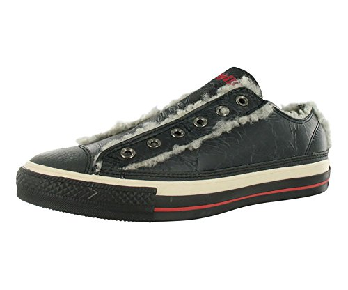 Converse All Star Chuck Taylor Shearling Slip On Unisex Shoes Size US 4.5, Regular (D, M) Width, Color Black/Red