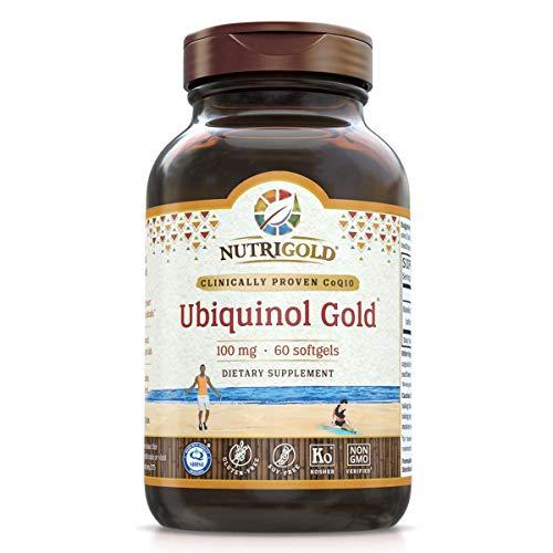 Nutrigold Ubiquinol Gold - Cardiovascular and Cellular Energy Support - 100 mg (60 softgels)