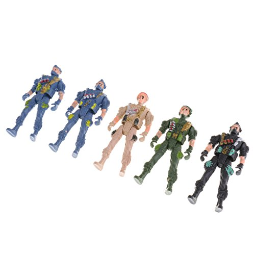 - MonkeyJack 5pcs Plastic Army Playset 9cm Soldier Paratroopers Action Figures Collectibles Gift