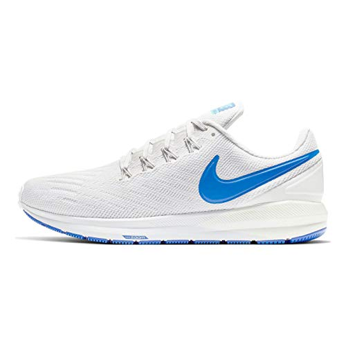 Nike Men's Air Zoom Structure 22 Running Shoes (11.5, Grey/Blue)