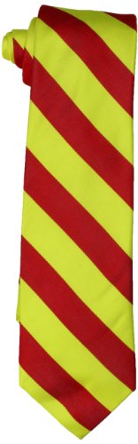Rooster Men's Neon Repp Stripe, Bright Red/Yellow, One Size ()