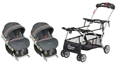 Baby Trend Snap N Go Double with 2 Infant Flex-Loc Car Seats, Vanguard